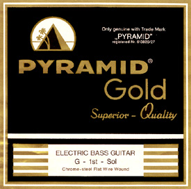 Pyramid - Gold Flatwound 040-100