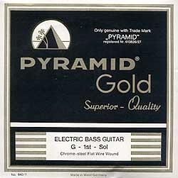 Pyramid - Gold Flatwound 040-105