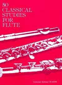 Universal Edition - 50 Classical Studies For Flute