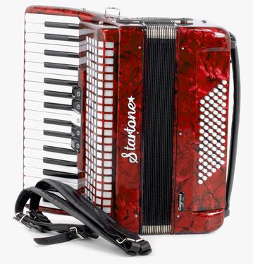 Startone - Piano Accordion 72 Red