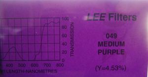 Lee - Colour Filter 049 Med. Purple