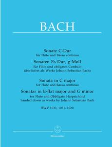 Bärenreiter - Bach 3 Sonatas Flute