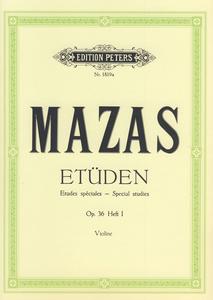 Edition Peters - Mazas Etüden op.36 Heft 1