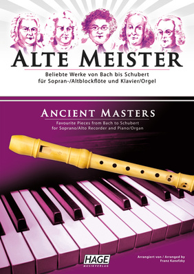 Hage Musikverlag - Alte Meister Rec Piano