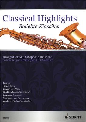 Schott - Classical Highlights A-Sax