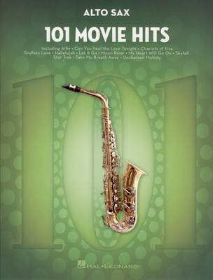 Hal Leonard - 101 Movie Hits for Alto Sax