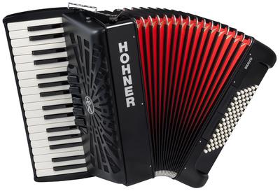 Hohner - Bravo III 72 Black silent key