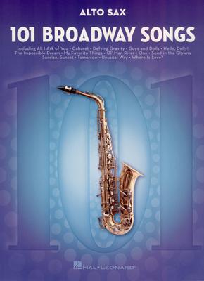 Hal Leonard - 101 Broadway Songs Alto Sax