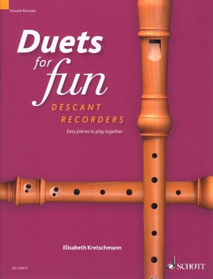 Schott - Duets for Fun Descant Recorder