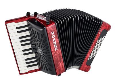 Hohner - Bravo II 48 Red silent key