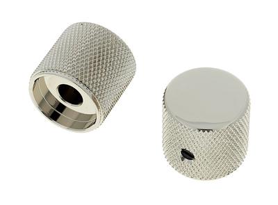 Allparts - Metal Barrel Knobs Nickel