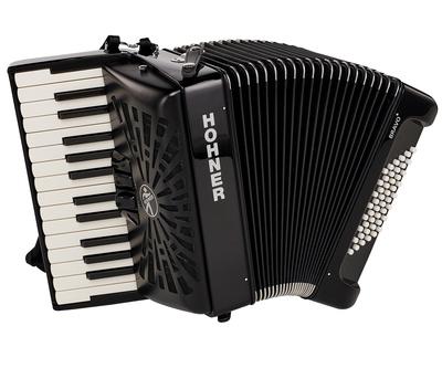 Hohner - Bravo II 48 Black silent key
