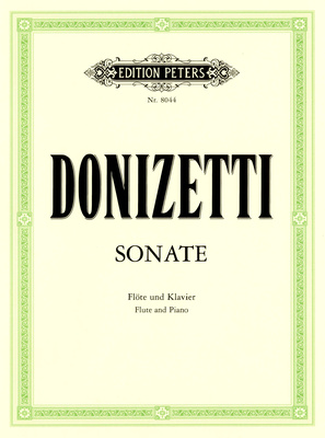 Edition Peters - Donizetti Sonate Flute C-Dur