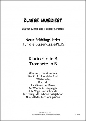 Goldbach Verlag - Frühlingslieder Clarinet/Trump