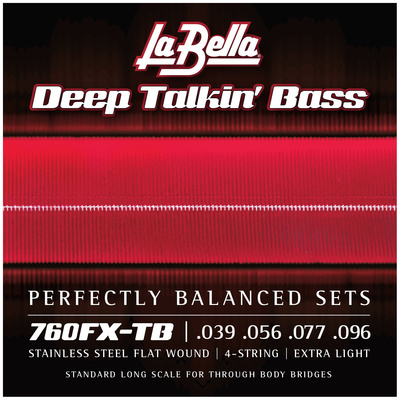 La Bella - 760FX-TB Flatwound String Set